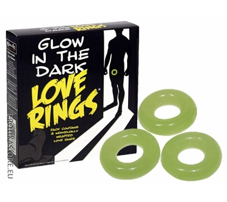 Love Rings - Világító Péniszgyűrű Szett