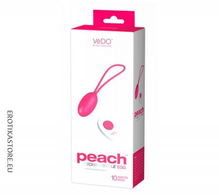VeDO  Peach - Rádiós Vibrációs Tojás, Pink